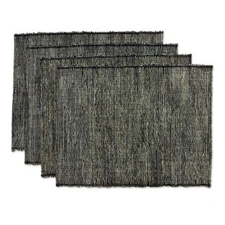 Handmade Set of 4 Cotton Natural Fibers 'Nature By Night' Placemats (Indonesia)