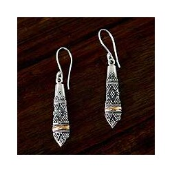 Gold Overlay 'Dancer' Dangle Earrings (Indonesia)