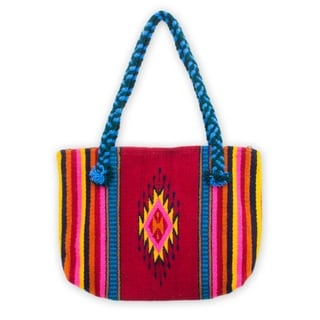 Wool 'Zapotec Diamonds' Medium Tote Handbag (Mexico)