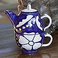 Handmade Set for 1 Ceramic 'Apaneca Morn' Tea Set (El Salvador)