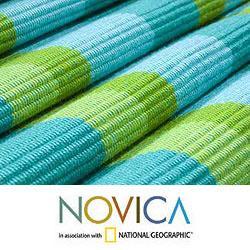 Handmade Cotton 'Guatemala Spring' Table Runner (Guatemala) - Thumbnail 2