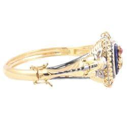 Michael Valitutti Two-tone Lapis Lazuli and Red Jade 'Scarab Beetle' Bracelet