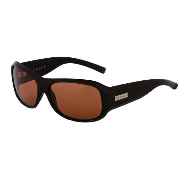 Serengeti Men's Leather Fashion Sunglasses
