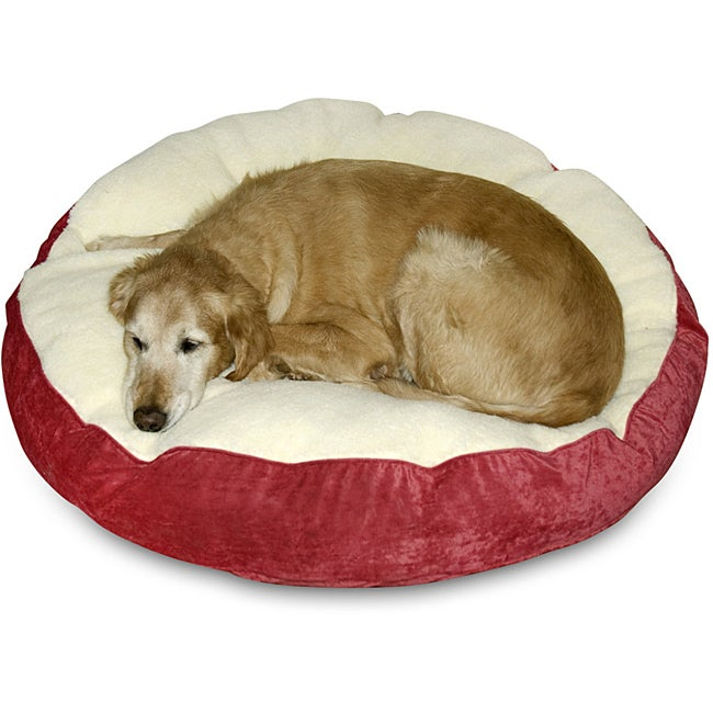 Scooter Deluxe Medium Round Dog Bed - Free Shipping Today - Overstock.com - 13928050