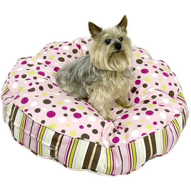Scooter Deluxe Large Round Cotton Dog Bed