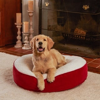 Happy Hounds Scooter Deluxe Crimson Round Dog Bed