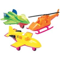 American Plastic Toys Assorted Aircraft Toy Set (Case Pack of 15) - multi
