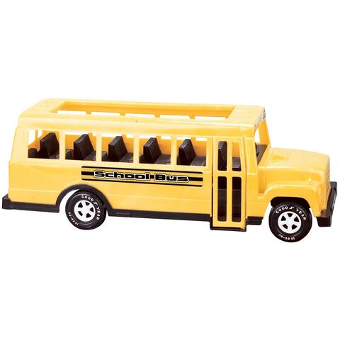 American Plastic Toys 18-inch School Bus Toy (Pack of 6)