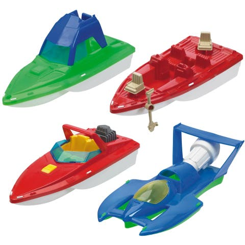 American Plastic Toys Deluxe Boat Assortment Set (Case of 10)