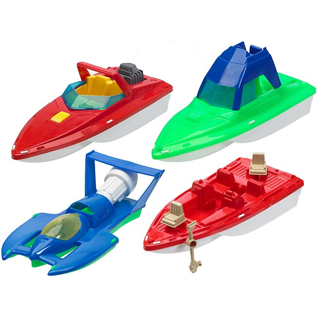 American Plastic Toys Deluxe Boat Assortment Toys Set (Case of 10)