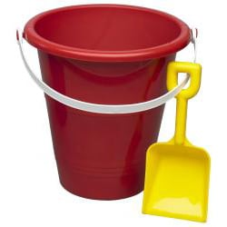 American Plastic Toys 8-inch Pail and Shovel Toys Set (Case of 36) - Thumbnail 1