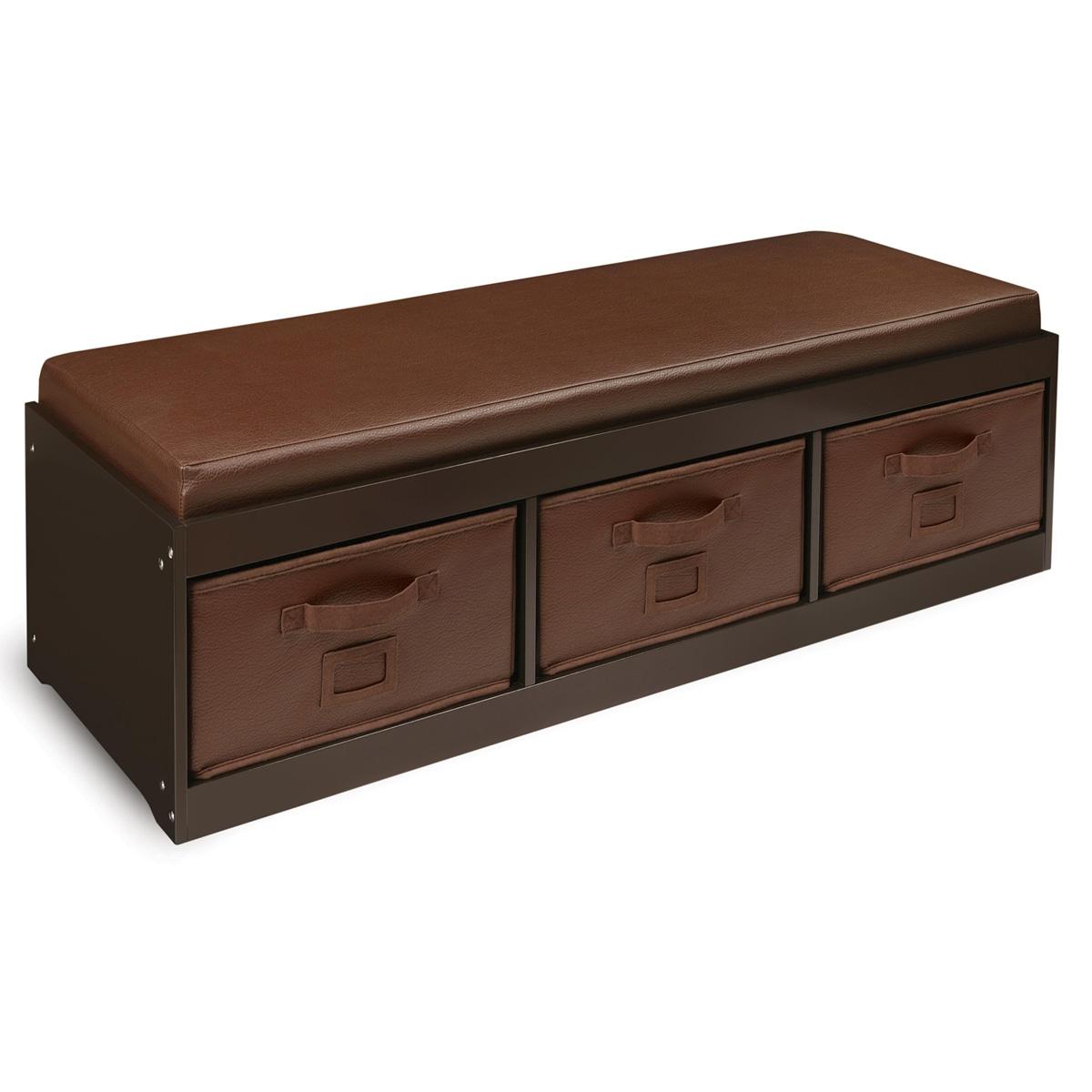 Shop Espresso Kid\'s Storage Bench with Espresso Bins - Free Shipping ...