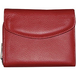 Dopp 'Roma' Leather Double-zip Card Holder Wallet