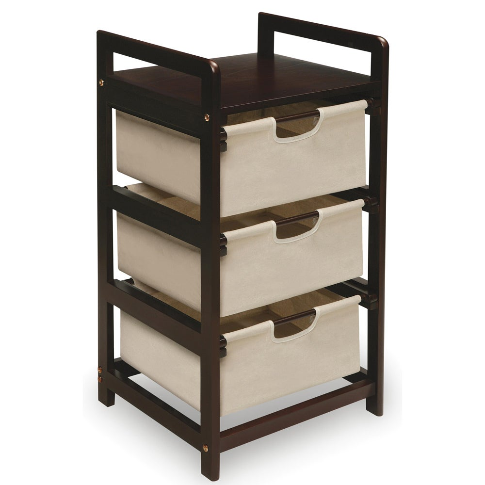 Espresso 3-drawer Storage Unit  sc 1 st  Overstock.com & Shop Espresso 3-drawer Storage Unit - Free Shipping Today ...
