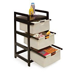 Espresso 3-drawer Storage Unit - Thumbnail 1