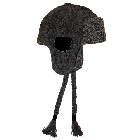 Muk Luks Men's Knit Faux Sherpa Lined Trapper Hat