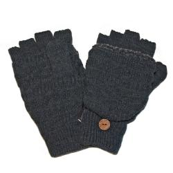 Muk Luks Men's Grey Fairisle Flip Gloves