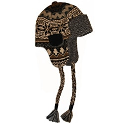 Muk Luks Men's Traditional Knit Button Top Trapper Hat