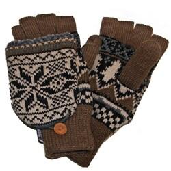 Muk Luks Traditional Nordic Flip Glove Mittens