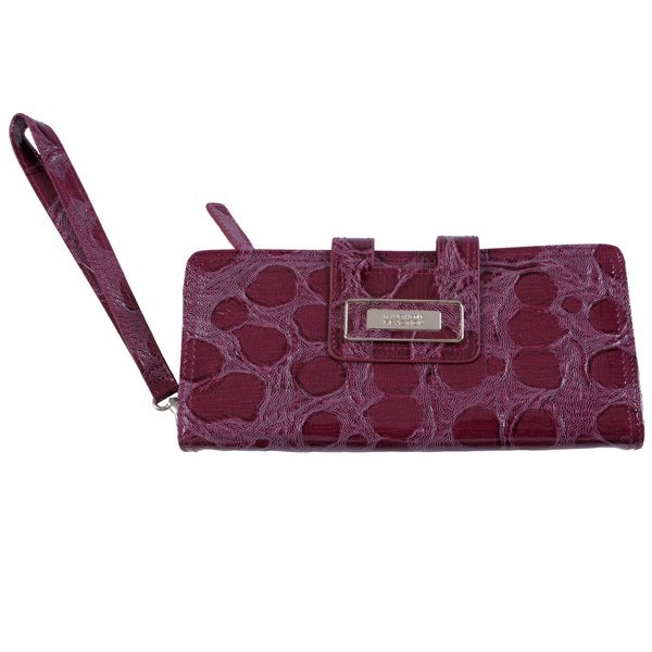 Kenneth Cole Reaction Women's Spotted Patent Clutch w/ Strap