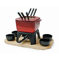 Swissmar F66601 Mont Blanc 15 Piece Meat Fondue Set, Red
