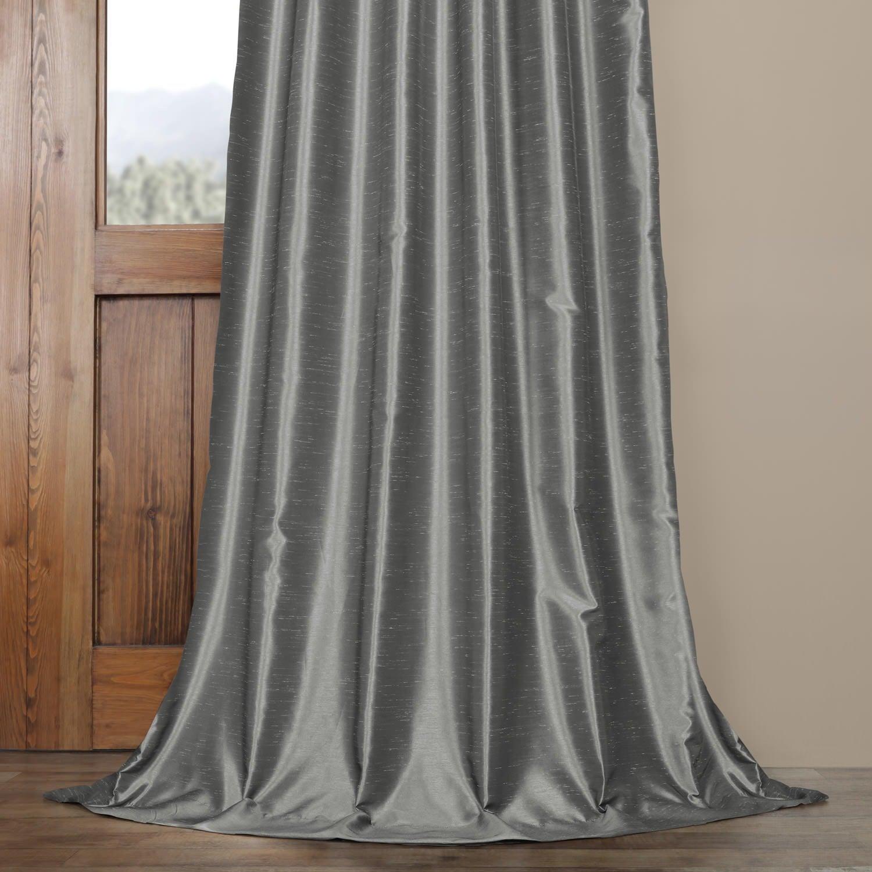 Novara Harlequin Silver Grey Faux Silk Jacquard 140cm wide Curtain Fabric