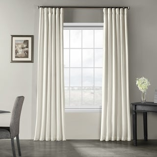Exclusive Fabrics Off-white Vintage Faux Textured Dupioni Silk Curtain
