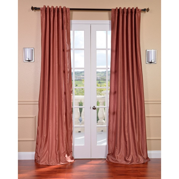 Exclusive Fabrics Spice Vintage Faux Textured Dupioni Silk 108-inch Curtain Panel