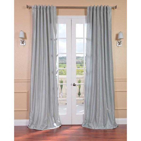 Exclusive Fabrics Sea Glass Faux Textured Dupioni Silk 108-inch Curtain Panel