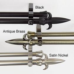 Spear Adjustable Double Curtain Rod
