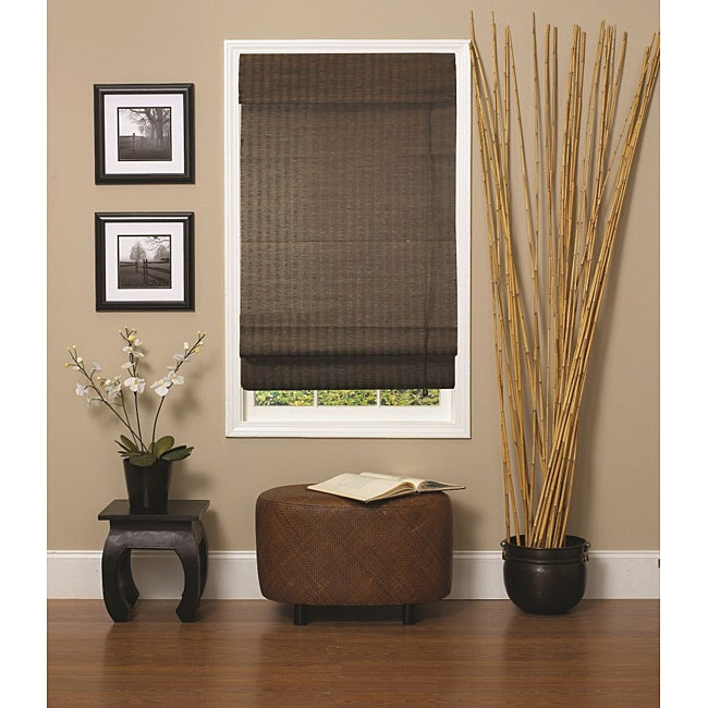 Natural Fiber Window Treatments Part - 22: Natural Fiber Espresso Roman Shade (60 X 72)