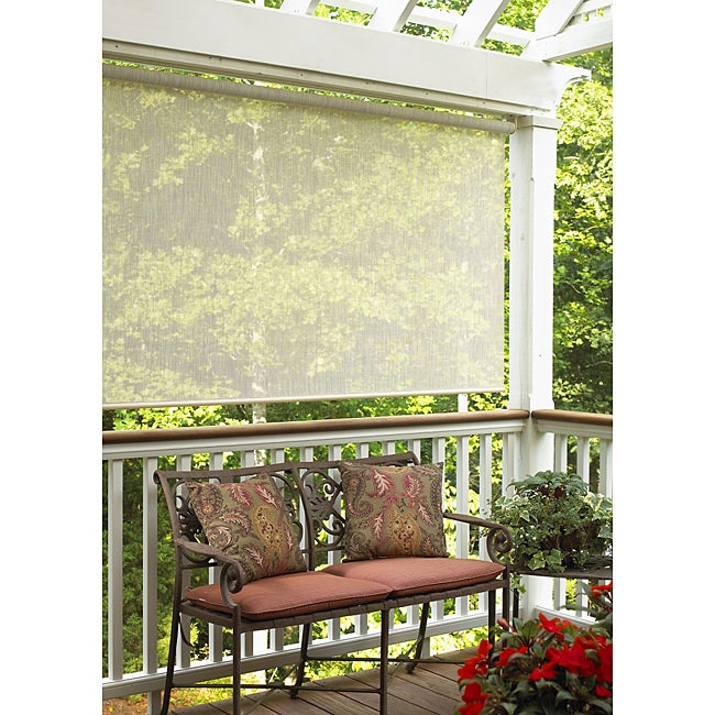 Sahara Sand Outdoor Roll-up Blind (72 in. x 72 in.)