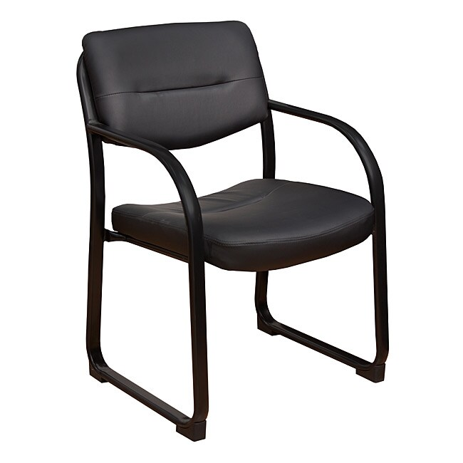 Crusoe Leather Side Chair with Arms