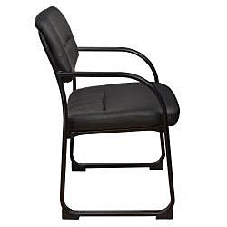 Crusoe Leather Side Chair with Arms - Thumbnail 1