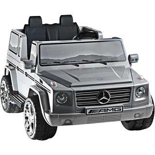 Two-seater Silver 12V Mercedes Benz G55 AMG Ride-on