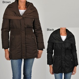 Excelled Women's Pop-over Collar Puffer Jacket