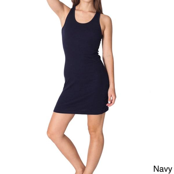 American Apparel Women's Rib 2x1 Racerback Dress