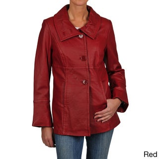 Excelled Women's Leather Shawl Collar Jacket