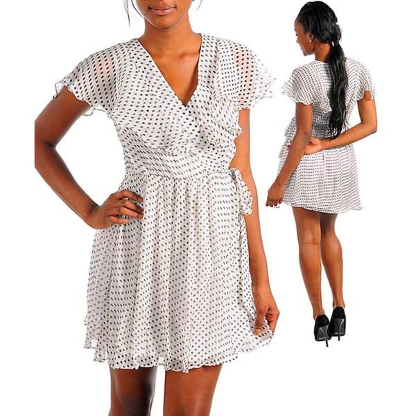 Stanzino Women's White/ Black Party Dress