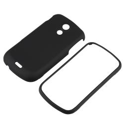 Black Hard Case/ LCD Screen Protector for Samsung Epic D700 4G Galaxy - Thumbnail 1