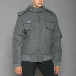 Lexen Women's Grey Wool-blend Bomber Coat