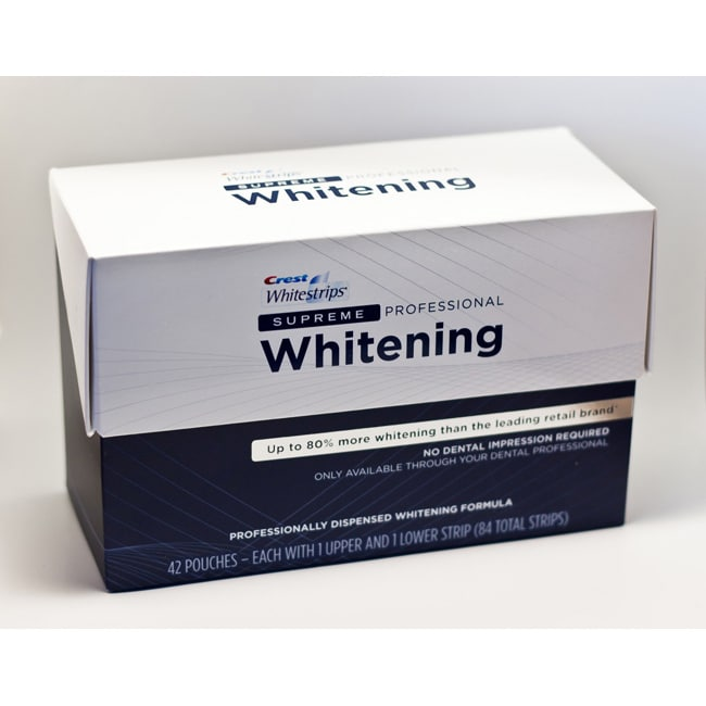Shop Crest Supreme Professional Strength Whitestrips Pack Of 84