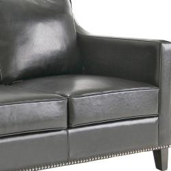 Diesel Black Leather Sofa And Two Chairs Free Shipping