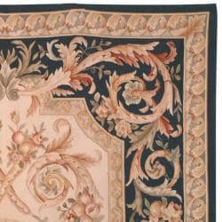 Hand-knotted French Aubusson Beige Wool Rug (4' x 6')
