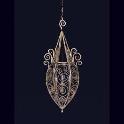 Indoor 3-light Burnished Sand Pendant