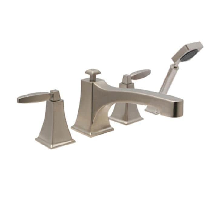 Roman Tub Filler Bathroom Faucet w/ Hand Shower