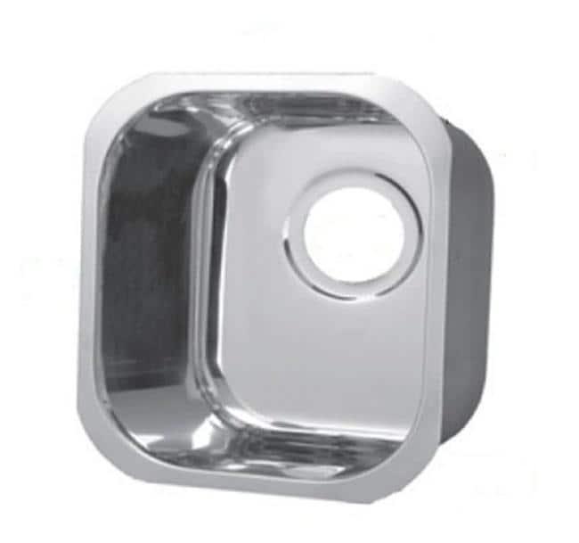 Portia 12 Inch Square Polished Nickel Bar Sink