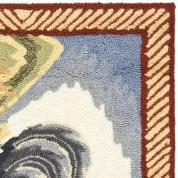 Safavieh Hand-hooked Rooster Ivory/ Blue Polypropylene Rug (2' x 3') - Thumbnail 1