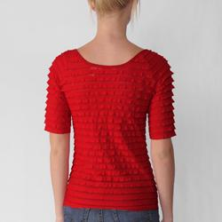 Derek Heart Junior's Solid 1/2-sleeve Tiered Top