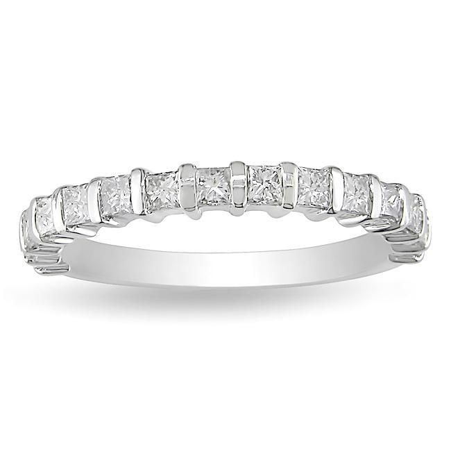 14k White Gold 3/4ct TDW Diamond Anniversary Ring (H-I, I2-I3)
